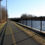 Bike trail along the Connecticut River in Turners Falls.